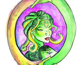 Medusa Mirror print