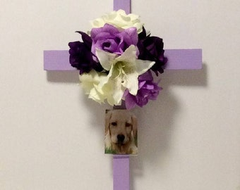 Cemetery Flowers, Cemetery Cross, Roadside Memorial Flowers, Picture Frame, Cemetery And Funeral, Grave Marker