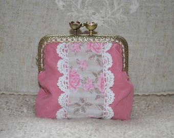 Romantic fabric purse