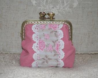 Romantic fabric purse