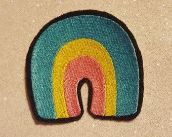 """Lucky Charms Rainbow Marshmellow 3"""" Iron On Patch"""