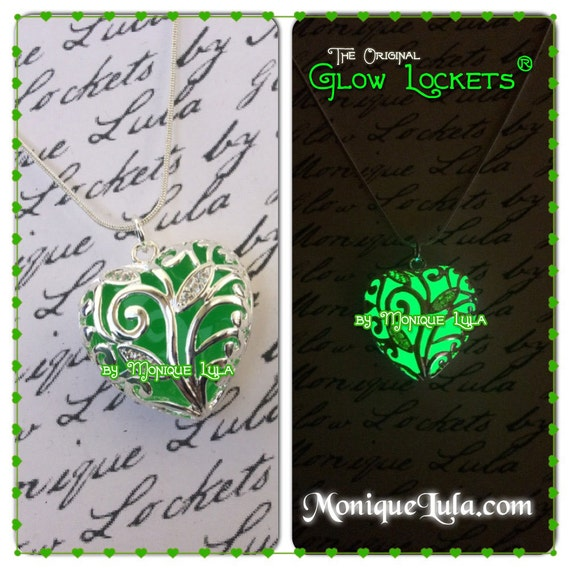 Lucky Green Glowing Heart Necklace