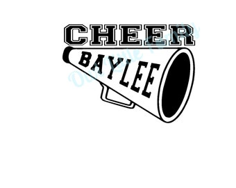 Personalized Cheer Iron On Vinyl Decal