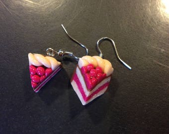 Earrings hand from polymer clay cake