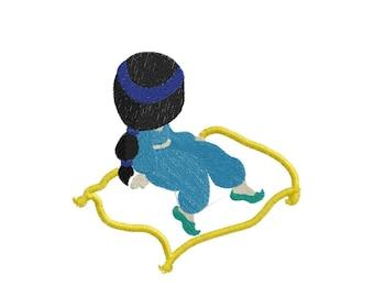 Sunbonnet Princesses Flying Carpet Applique