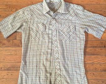 Vintage Men's Levi's Western Shirt Pearlized Snaps Size Medium