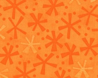 Jenn Ski Fabric, Orange Jacks, Ten Little Things by Jenn Ski for Moda, 30505-32