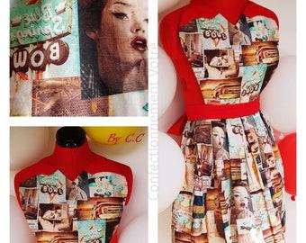 Pinup Bettie apron: Retro Glamour