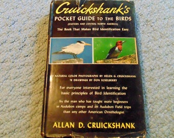 Cruickshank's Pocket Guide to the Birds/Signed copy/1953 edition/Bird Identification book/Bird Lover Book/Color illustrations and Drawings