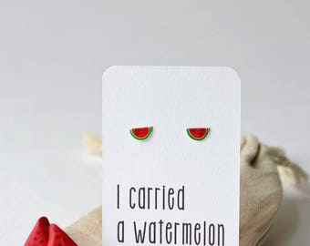 Dirty Dancing theme gift watermelon earrings