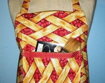 Cherry Pie Full Apron One-Size