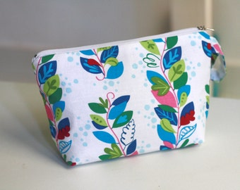 Cosmetic Pouch Colorful Vine, zippered make up bag, make up pouch
