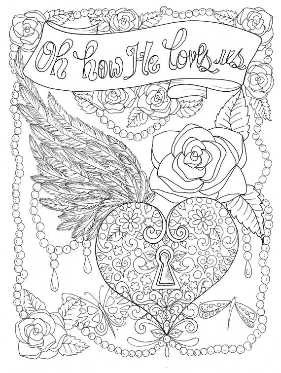 adult religious coloring pages | Christian Worship coloring page Instant download/church/