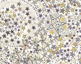 Fabric flowers, liberty, stars, adelajda