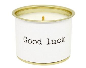190 - boyfriend gift GOOD LUCK - soy wax scented Gr