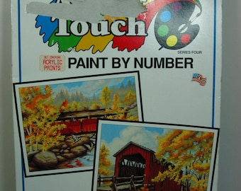 Oil Paint by Number Two Covered Bridges 1992  (1335)