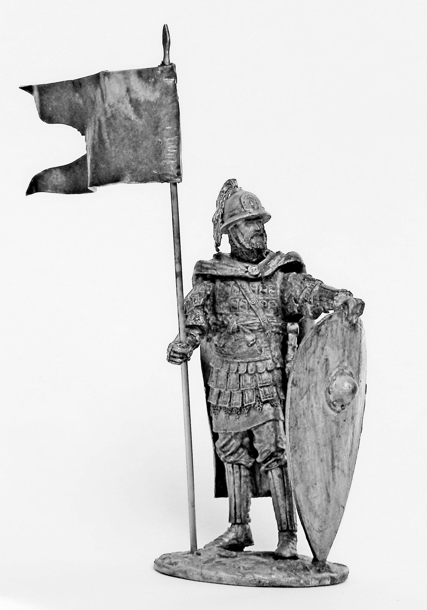 Tin soldier. Tin miniature. Pewter sculpture. Byzantine