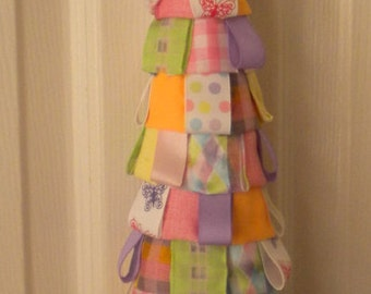 Spring Easter Garden Ribbon Tree