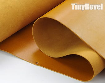 Italy Vegetable Tanned Leather, TAN of Leather Off Cuts, Italian Genuine Cowhide Leathercraft [Thickness: 1.8 mm] L006