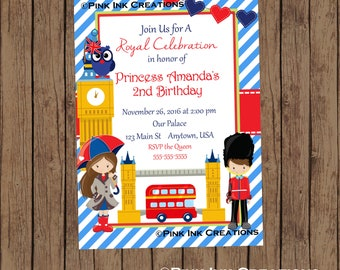 London Birthday Invitation / London Invitation / London Baby Shower Invitation / London Birthday Party / England Invitation / PRINTABLE