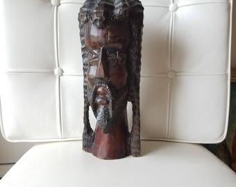 Rastafarian wood sculpture