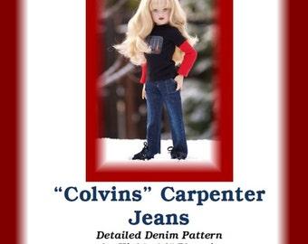 "Colvins Carpenter Jeans PDF pattern for 14"" Kish Chrysalis dolls like Phoenix"