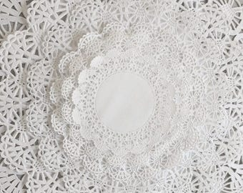 """60 ct. Paper Lace Doilies Variety Pack 10 each of 4"""", 5"""", 6"""", 8"""", 10"""" and 12"""""""