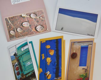 "Photo Miniature Gift Cards - Set of 5 - Folded Greeting Cards 2""x 3.5"""