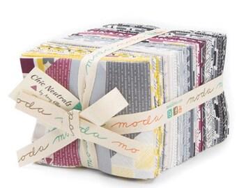 Moda Fabrics Chic Neutrals by Amy Ellis 38 Piece Fat Quarter Bundle