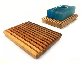 2 Luxurious aromatic red cedar soap dishes