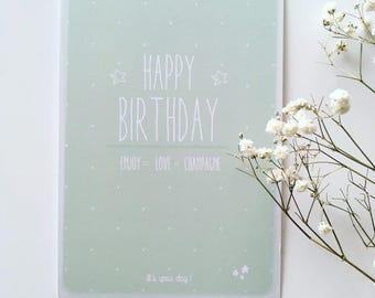 min - Happy birthday birthday card!
