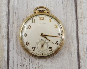 Antique Gold Filled Pocket Watch by Hamilton from 1894