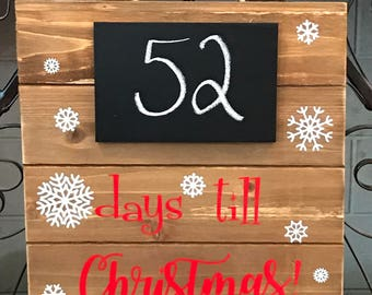 Countdown Sign, Chalkboard sign, wood countdown sign, vacation countdown sign