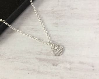 Sterling Silver Palm Tree Necklace/Sterling Silver/Palm Tree/Palm Tree Charm/Pendant/Everyday Wear/Layered/Gift/UK/Boho/Festival/Summer