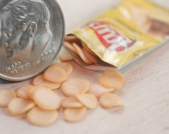 Dollhouse Miniature one inch scale potato chips by CSpykersMiniaturesUS