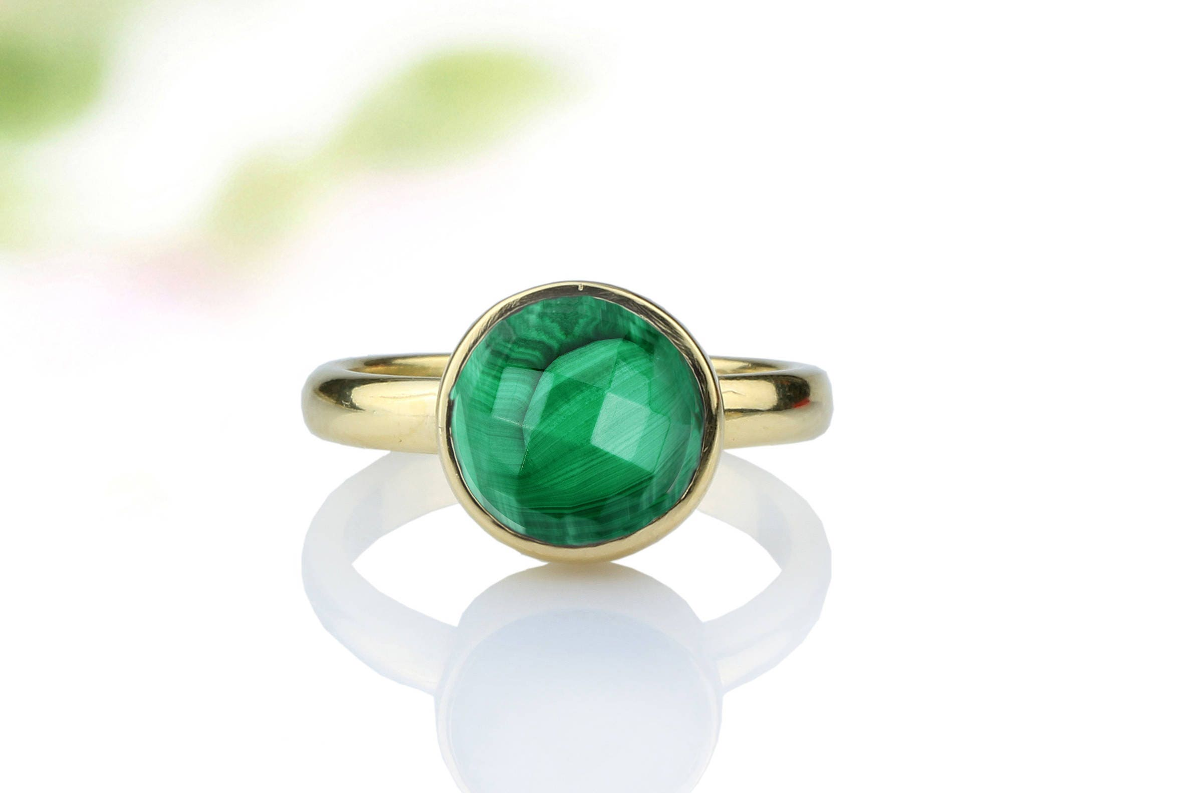 from ring gold buy rings now etsy emerald details com ori green gemstone