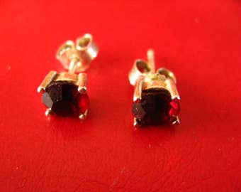 Ornate pair of buttons of ears of a Garnet