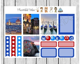Weekly sticker set - Italy - planner stickers