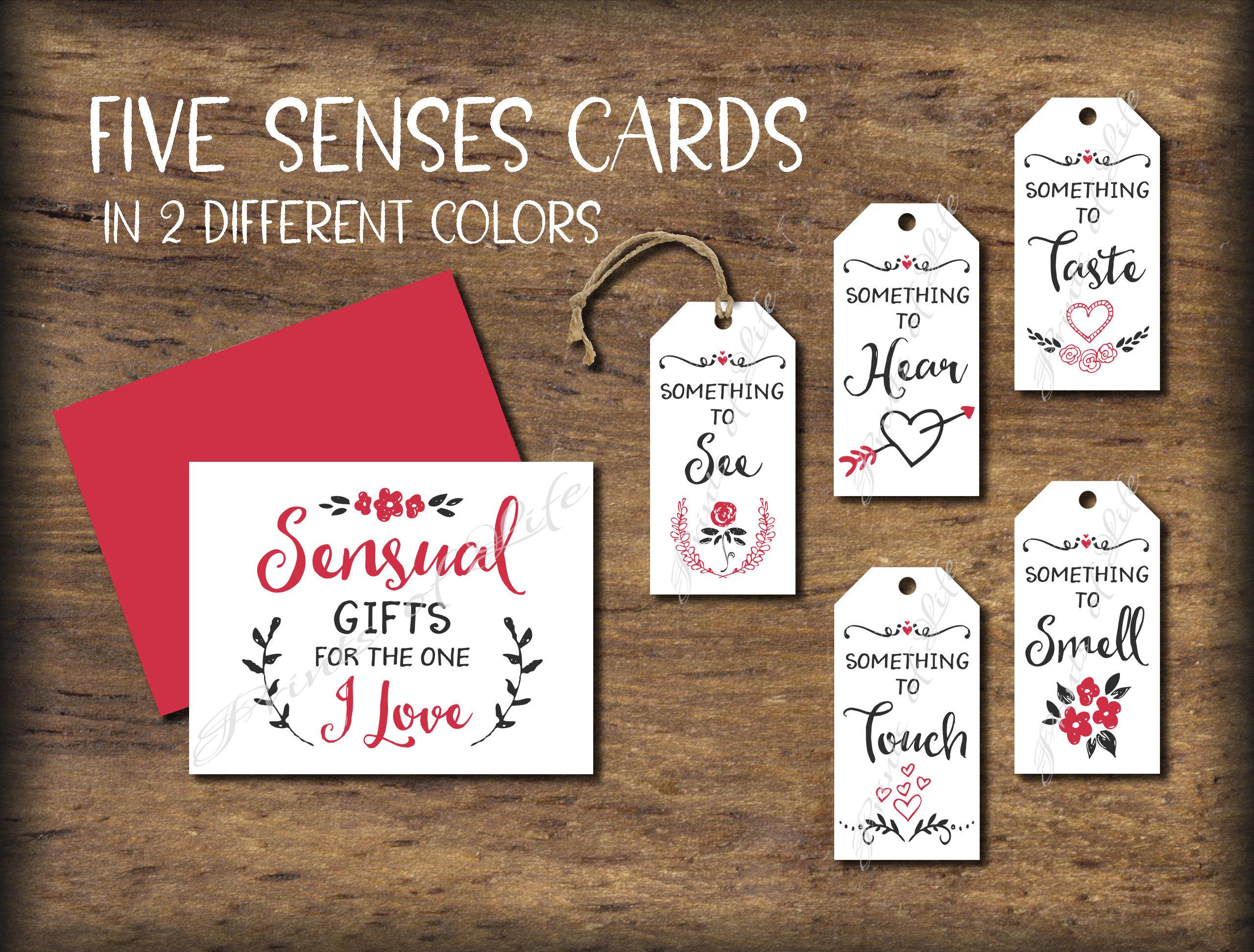 five senses gift tags  u0026 card  5 senses instant download