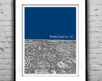Washington DC Skyline Poster Art Print Washington Monument Mall  Item T1314