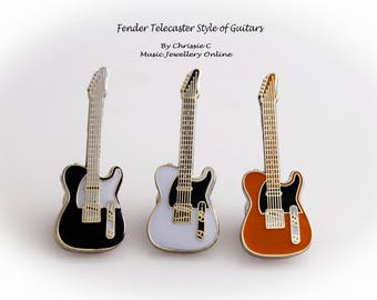 Fender Telecaster Guitar Pin - White , Yellow or Black