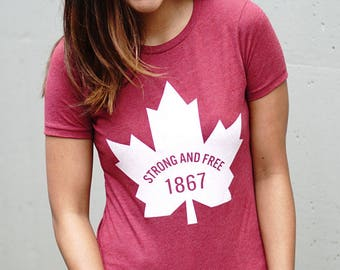 CANADA 1867 Strong and Free Womens T-Shirt
