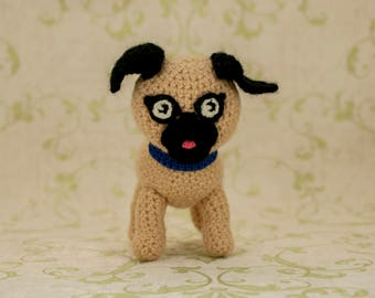 Unique baby gift personalized stuffed animal dog personalized baby crochet toys birthday baby boy birthday baby girl christmas gifts mops