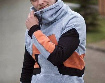 Unique Half Life HEV suit hoodie by Wolvenstyle. Sweatshirt inspired by Gordon Freeman Armor. High quality hoodie from Europe.