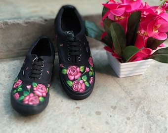 Hand-Painted Floral(ROSE)....shoes