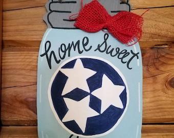 Home Sweet Home Door Hanger, Mason Jar Door Hanger