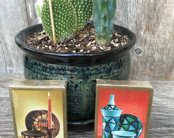 Mid Century Pottery Design Playing Cards, Deck of Cards,