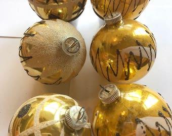 Vintage Christmas Tree Ornament, West German Ornaments, 1950's Ornaments