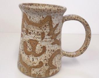 Wheel Thrown Ceramic Stoneware Pottery Cat Mug