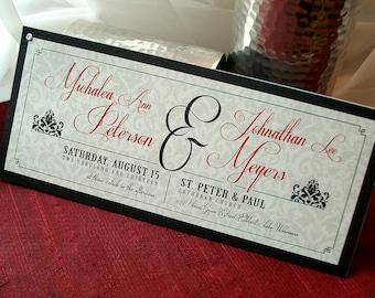Danica Damask Layered Wedding Invitation... SAMPLE